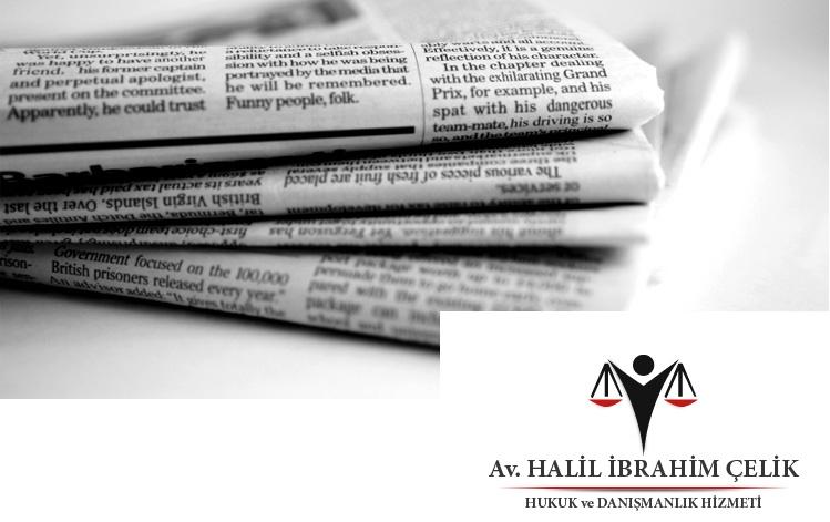 Basın İş Kanunu ve Gazeteci Hakları - Av. Halil İbrahim Çelik